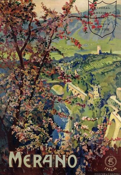 Poster of Merano, printed by Richter & C. Naples, c.1926 (colour litho)