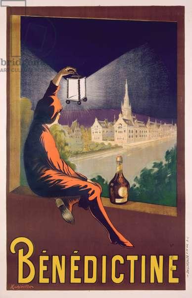 Poster advertising 'Benedictine' liqueur, c.1928 (colour litho)