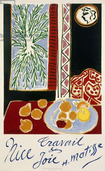 Nice Travel By Matisse, 1947 (colour litho)