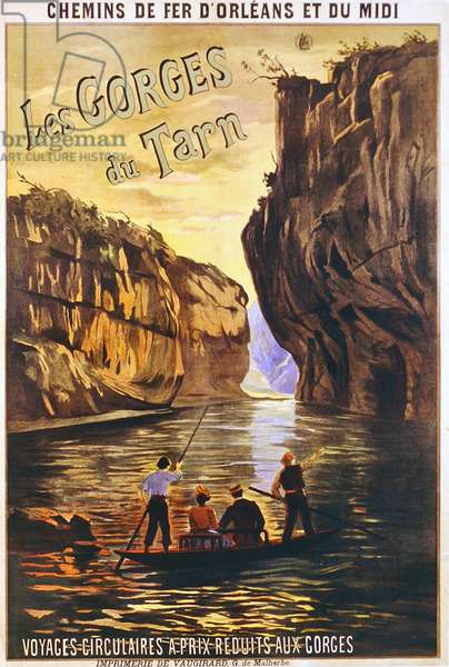 'Les Gorges de Tarn', poster advertising French railways, c.1905 (colour litho)