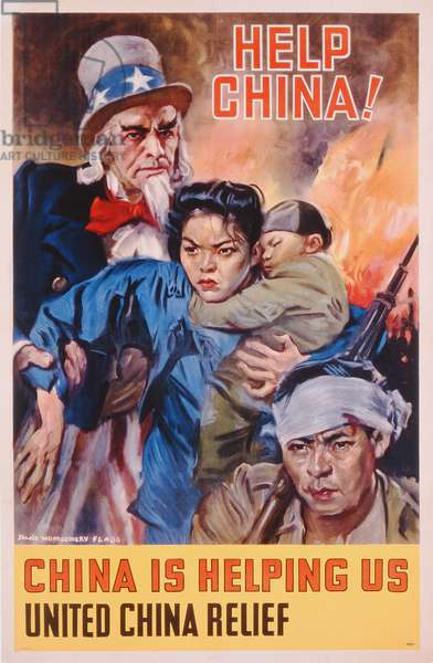 'Help China! China is Helping Us', poster advertising United China Relief (colour litho)