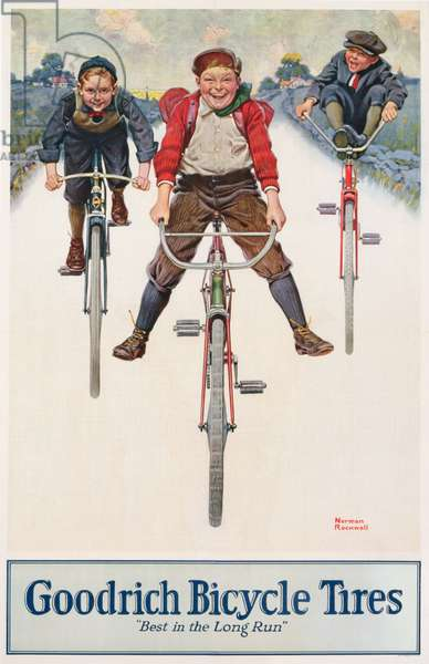 Poster advertising Goodrich Bicycle Tires, printed in Chicago, c.1930 (colour litho)