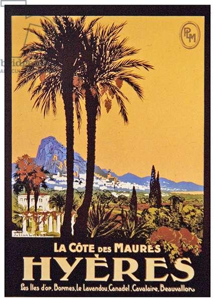 Hyères, La Côte des Maures, 1922 (colour litho)