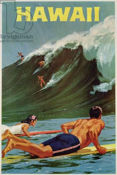 Hawaii, c.1965 (colour litho)