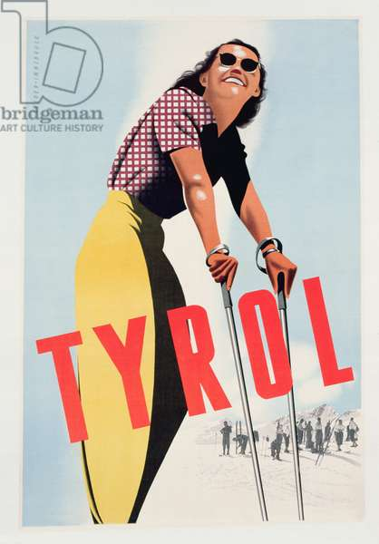 Advertisement for Tyrol, c.1937 (colour litho)