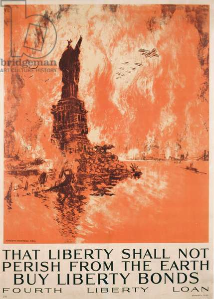 'That Liberty Shall Not Perish From The Earth, Buy Liberty Bonds', First World War poster (colour litho)