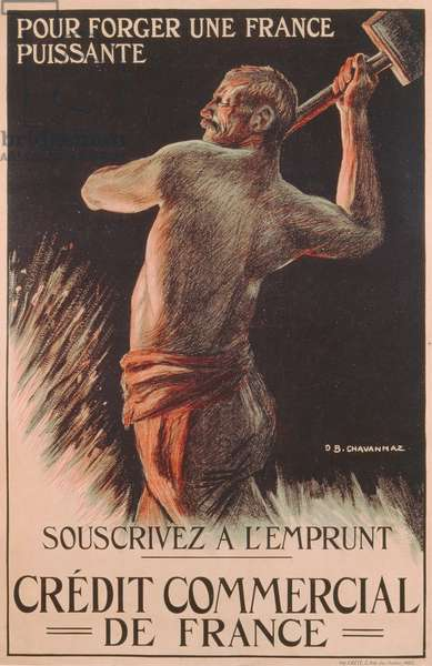 Poster advertising the French National Loan, First World War (colour litho)
