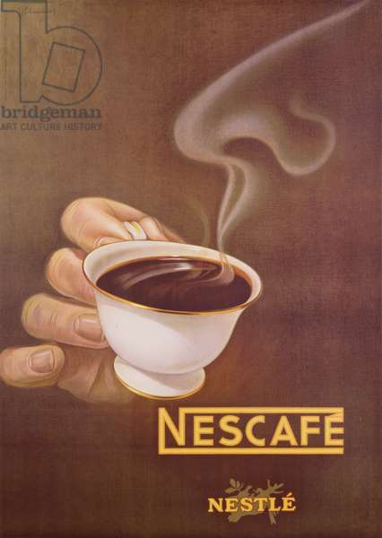 Advertisement for Nescafe by Nestle, designed by Schupbach, c.1930 (colour litho)