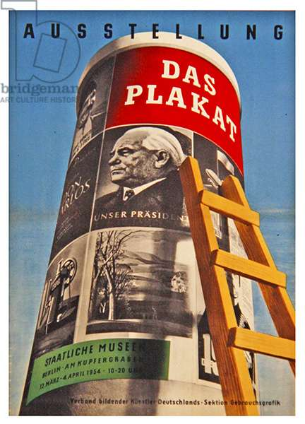 Ausstellung Das Plakat, 1954 (colour litho)