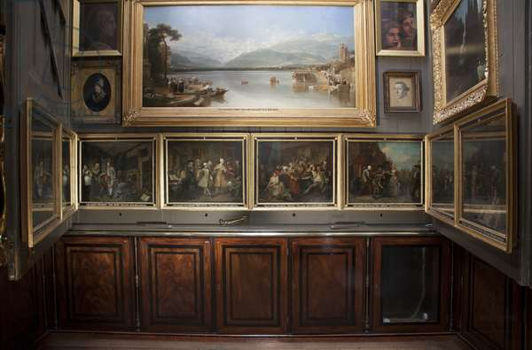 The north wall of the Picture Room, Sir John Soane's Museum, London (photo)
