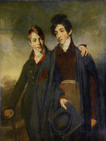 John Soane Junior and George Soane, 1805 (oil on canvas)