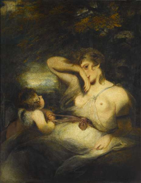 The Snake in the Grass (Love Unloosing the Zone of Beauty), 1785 (oil on canvas)