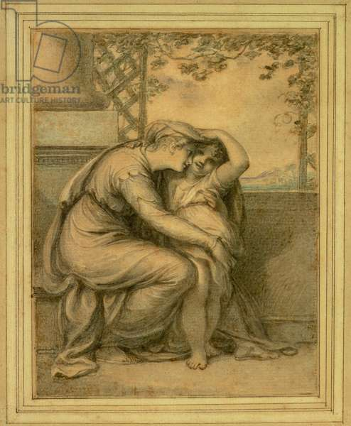 Andromache and Astyanax, 1789 (w/c over pencil on paper)