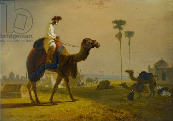 The Hirkarrah Camel (A Scene in the East Indies), 1832 (oil on canvas)