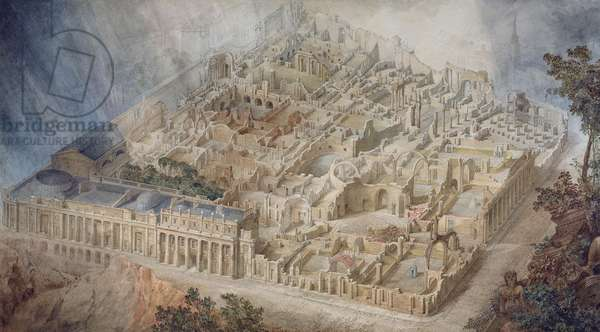 Bank of England as a Ruin, 1830 (w/c on paper)