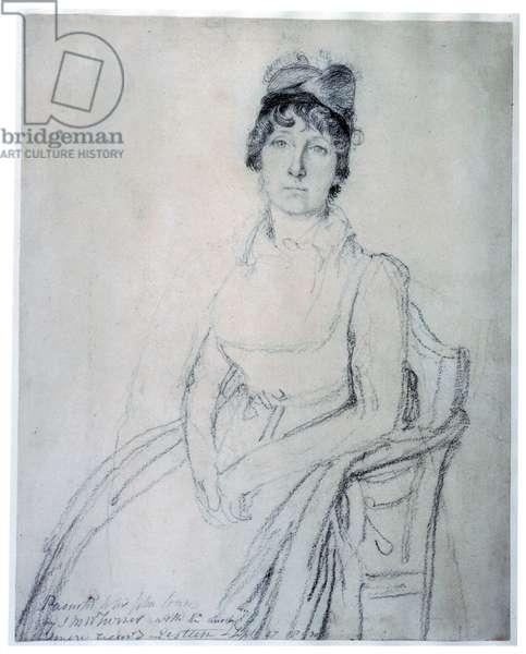 Sketch of Eliza Soane, c.1800 (pencil on paper)
