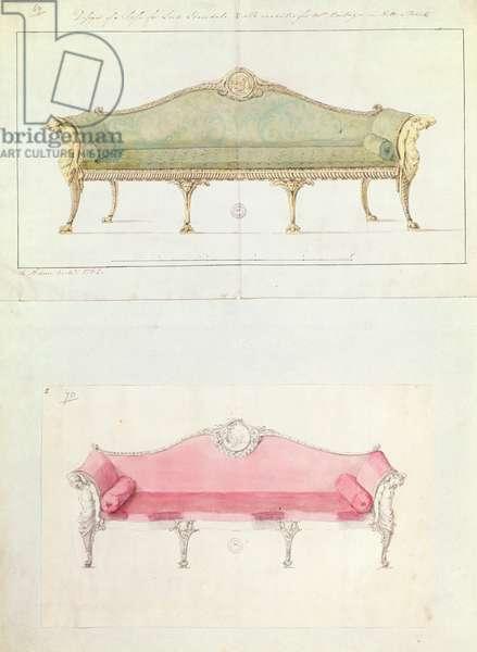 Sofa designed by Robert Adam, 1770's
