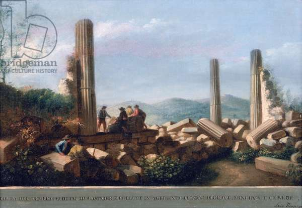 Temple of Castor and Pollux (oil on canvas)