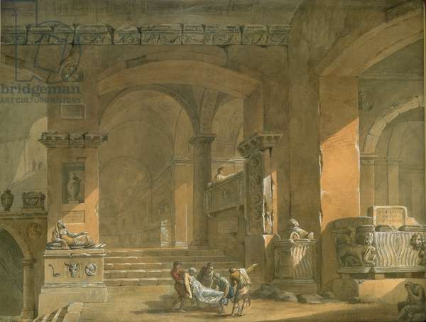 Sepulchral Chamber, c.1773 (gouache and w/c)