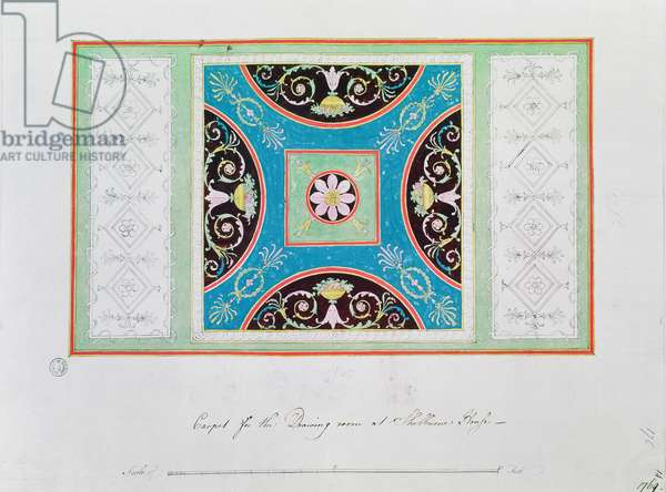 Carpet design for the drawing room, Shelburne House