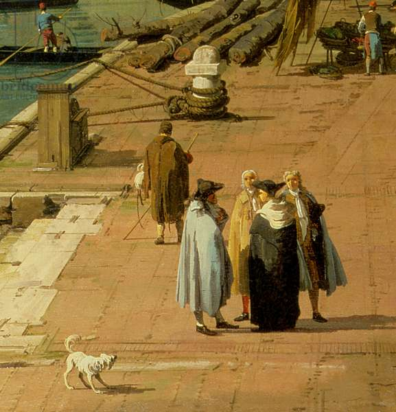 The Riva degli Schiavoni, looking West (oil on canvas) (detail of 134746)