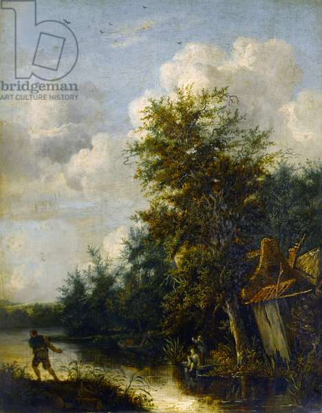 A Landscape, c.1650 (oil on panel)