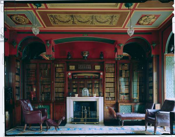 The chimneypiece wall in the south end of the Library-Drawing Room, Sir John Soane's Museum, London (photo)
