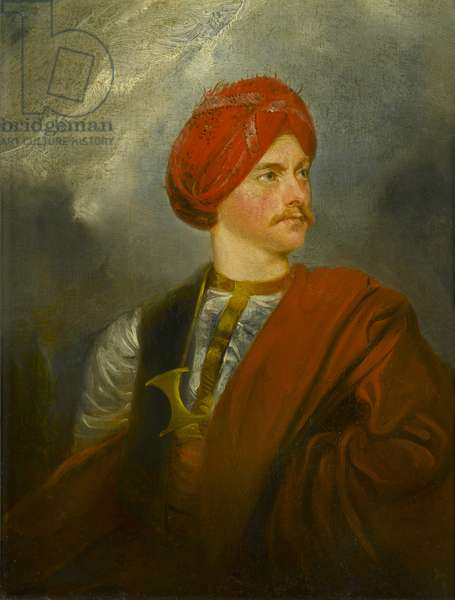 Portrait of a Man in Oriental Costume, c.1835-40 (oil on panel)