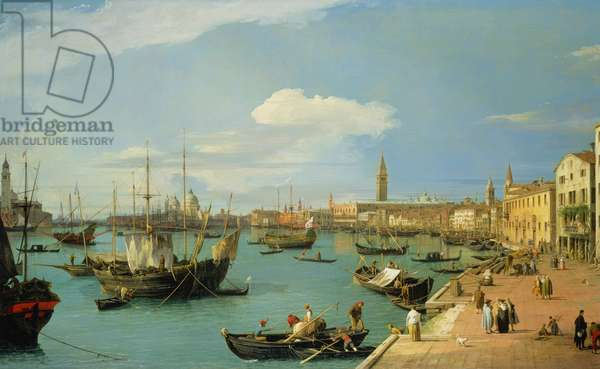 The Riva degli Schiavoni, looking West (oil on canvas)