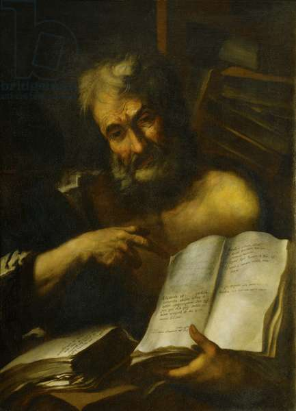 Study of a Man's Head: One of the Fathers, 1699 (oil on canvas)