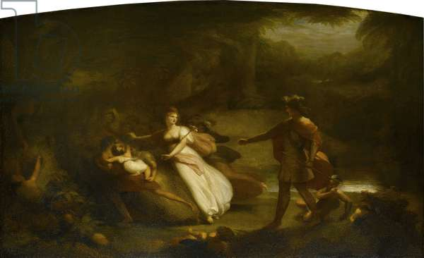 The Contention of Oberon and Titania for the Indian Boy, from William Shakespeare's 'A Midsummer Night's Dream' Act II, 1832 (oil on canvas)
