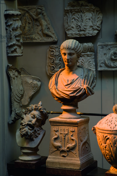 A Roman bust of an elaborately coiffed woman, Sir John Soane's Museum, London (photo)