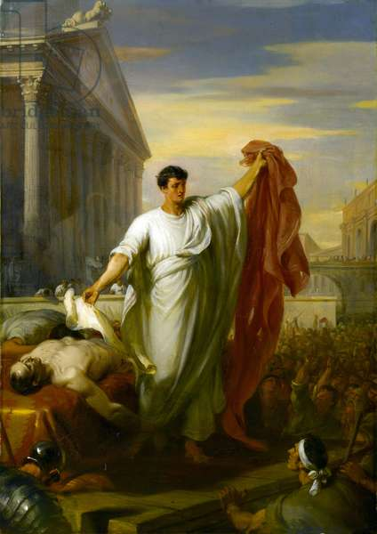 Marc Anthony Reading the Will of Caesar, 1834 (oil on canvas)