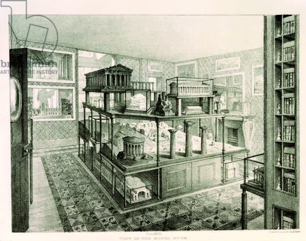 View in the Model Room, from the 'Description' of Soane's museum, 1835 (litho)