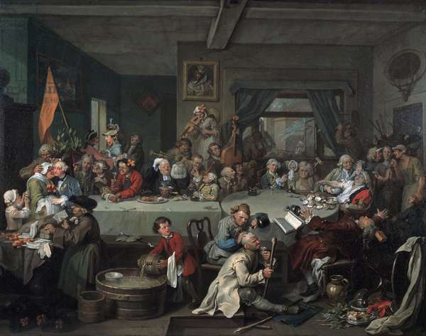 An Election Entertainment, 1755 (oil on canvas)