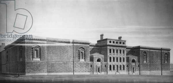 Newgate Gaol: Elevation, drawing (b/w negative)