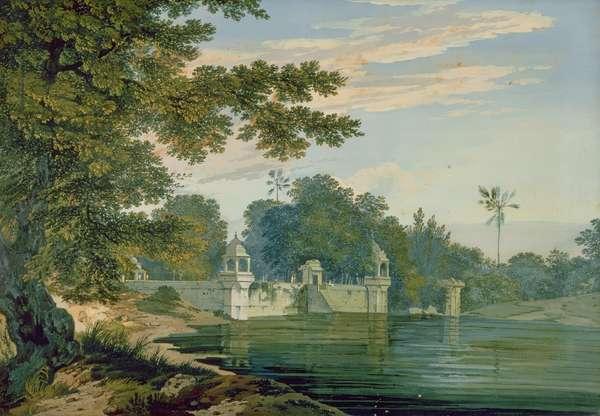 A View Near Agra, c.1780 (gouache on paper)