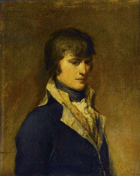 Napoleon Buonaparte in his 29th Year, Painted at Verona, 1797 (oil on canvas, glued to wood panel)