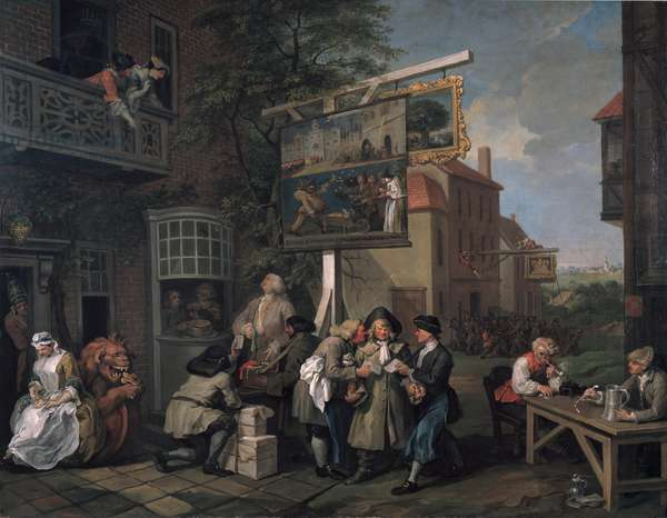 The Election II: Canvassing for Votes, 1754-55 (oil on canvas)