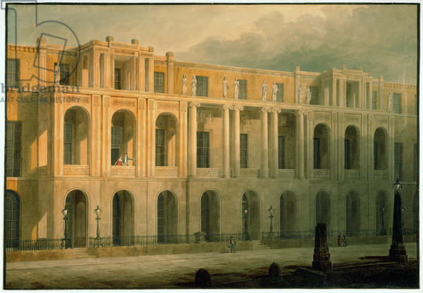 Design for an extended elevation for 13-15 Lincoln's Inn Fields. 1813 (w/c on paper)