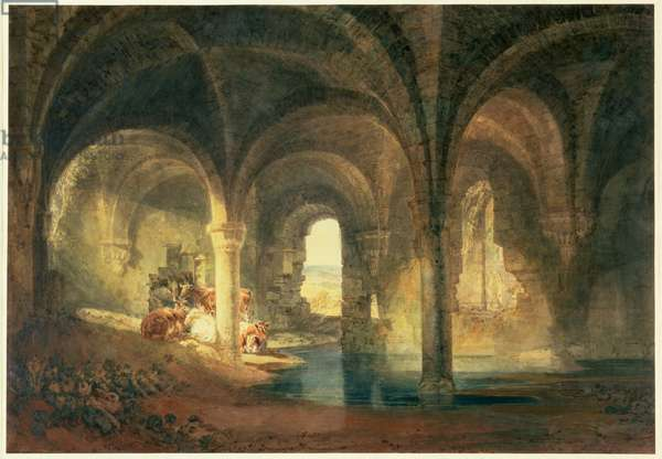 Refectory of Kirkstall Abbey, c.1798 (w/c on paper)