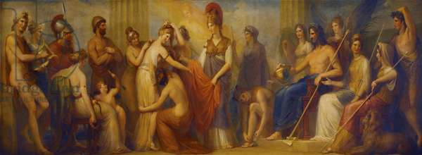 'Pandora, whom the assembled Gods, endowed with all their gifts...', 1834 (oil on mahogany panel)