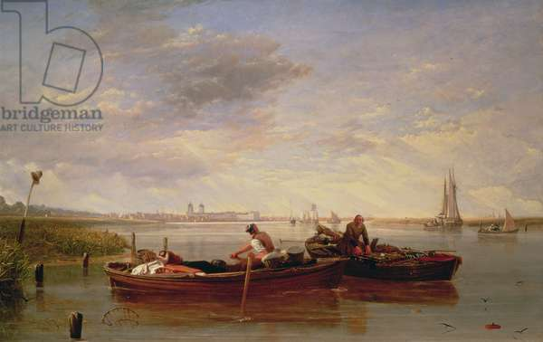 The Thames Below Greenwich, c.1827 (oil on canvas)