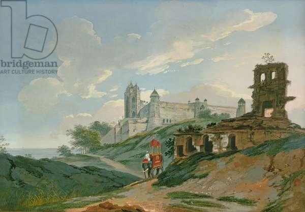 Fatehpur Sikri Palace (gouache on canvas)