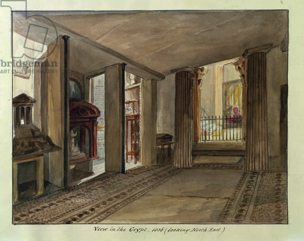 The Egyptian Crypt, 1836 (w/c on paper)
