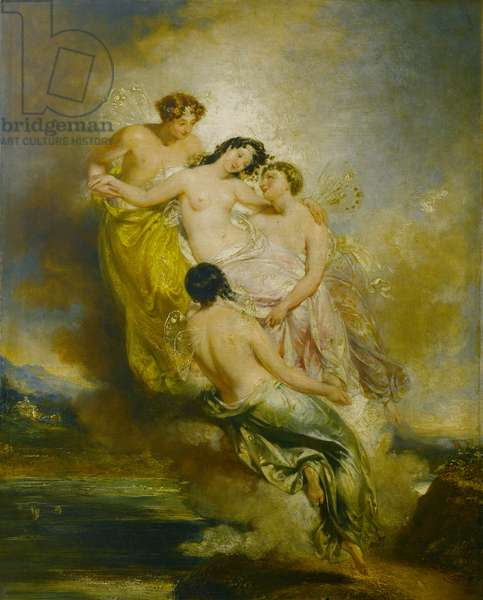 Psyche Conveyed by Zephyrs to the Valley of Pleasure, 1826 (oil on canvas)