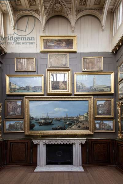 The east wall of the Picture Room, Sir John Soane's Museum, London (photo)
