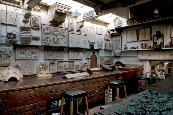 The Students' Room, looking south-west,  Sir John Soane's Museum, London (photo)