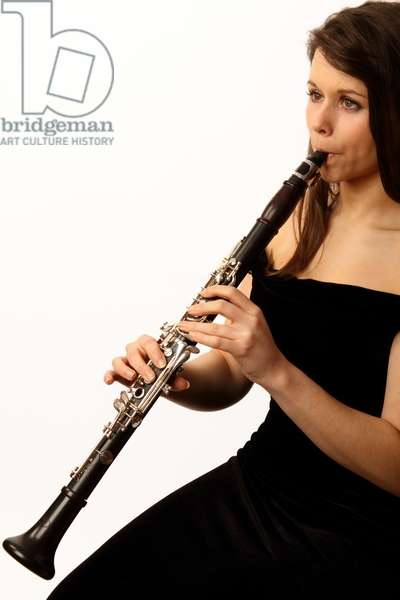Clarinet in playing position