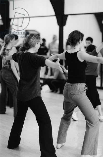 Modern dance lesson -